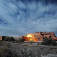 Painted Desert Inn under moon light