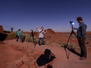 Astronomy teacher Rich Kruger takes photos of the contellations. (click to enlarge)