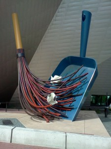 Claes Oldenburg's broom