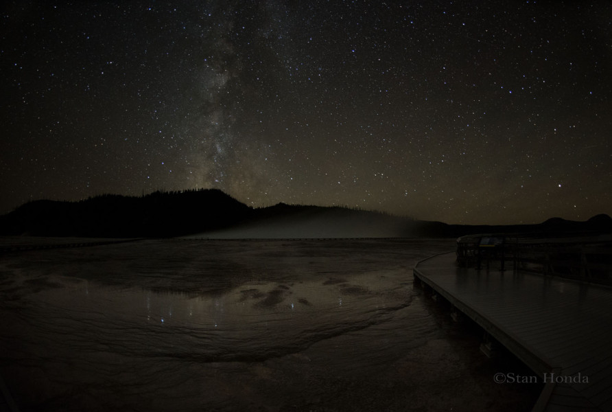 Southern Milky Way at Midway Geyser Basin