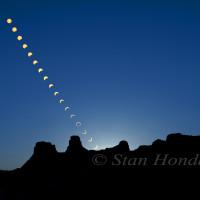Moon and sun, Pueblo Bonito