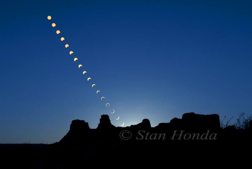 Moon and sun, Pueblo Bonito