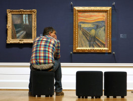 """Skrik"" (The Scream) in the Munch gallery at the National Gallery"