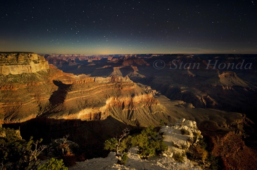 Moonlight on Yavapai Point