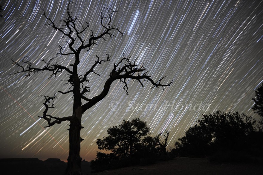 Star trails, Yaki Point