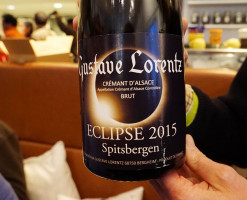 Special champagne at the eclipse night dinner