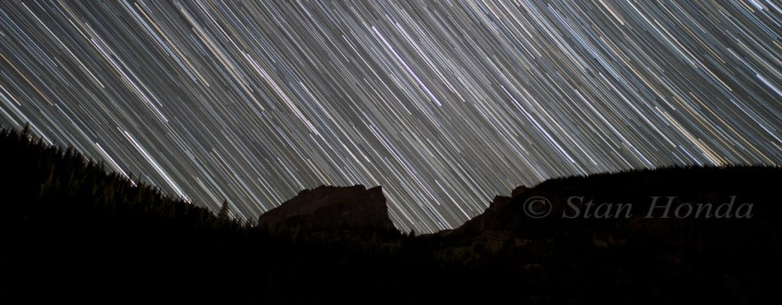 Star trails, Bear Lake