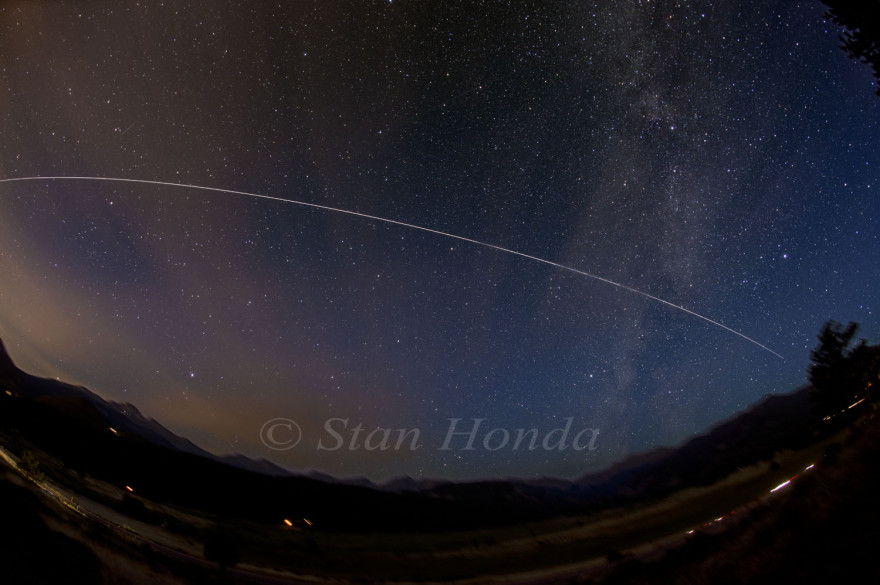 International Space Station streaks over Moraine Park