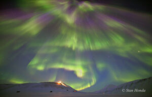 March 20 aurora over Longyearbyen