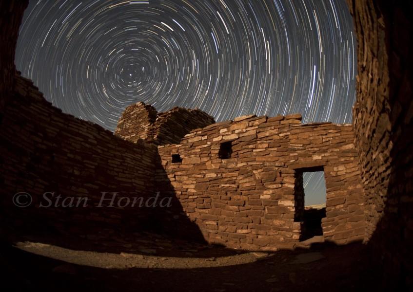 Star trails, Lomaki pueblo