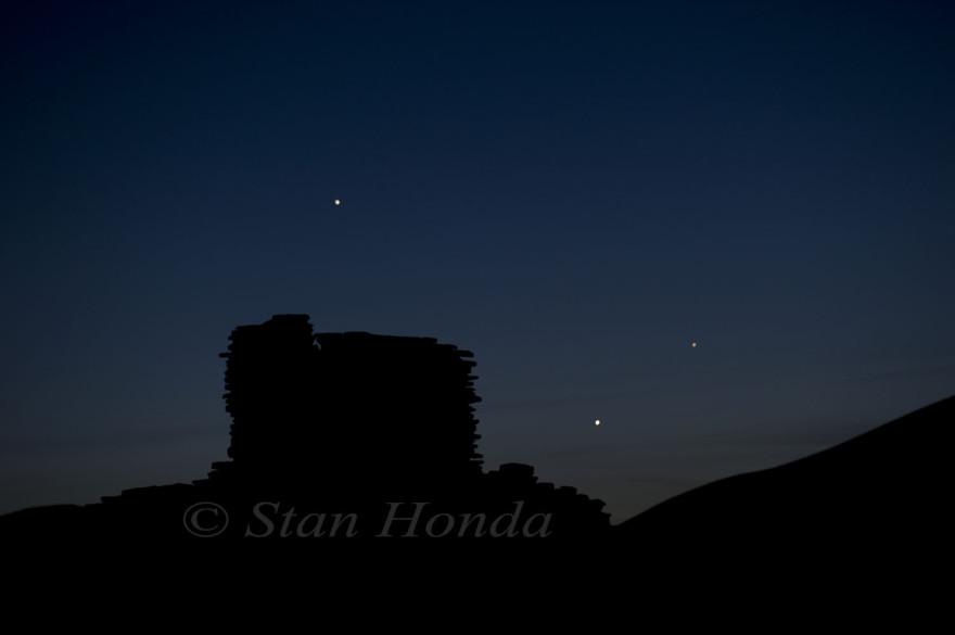 Jupiter-Venus-Mercury, Wupatki Pueblo
