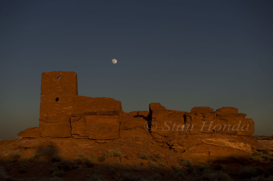 Moon rise, Wukoki Pueblo