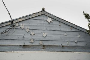 The Big Dipper points to Polaris near the roof of Laverne Solberg's garage.