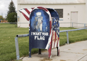 American Legion flag box.