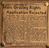 Mars grazing rights? (Click on image to enlarge, easier to read the clippings)
