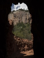 Looking out through the Supai Tunnel