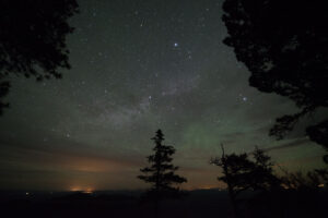 The summer triangle and a greenish glow from Point Imperial. (click on photos to enlarge)