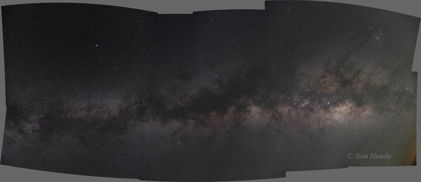 Ten frame mosaic of the Milky Way. From the North Rim of the Grand Canyon.