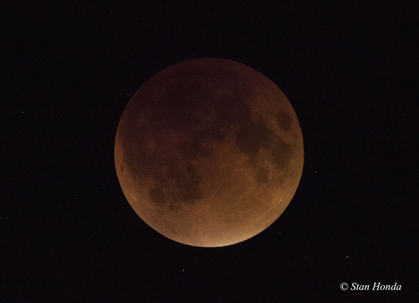 Total Lunar Eclipse, Sept. 27 at mid-totality.