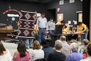The scene during The Rug Auction of Crownpoint.
