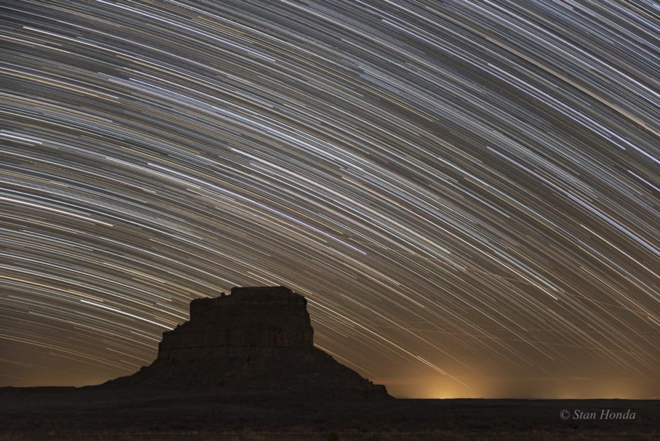 South sky, Fajada Butte, Mar. 29, 10:05-11:05 pm
