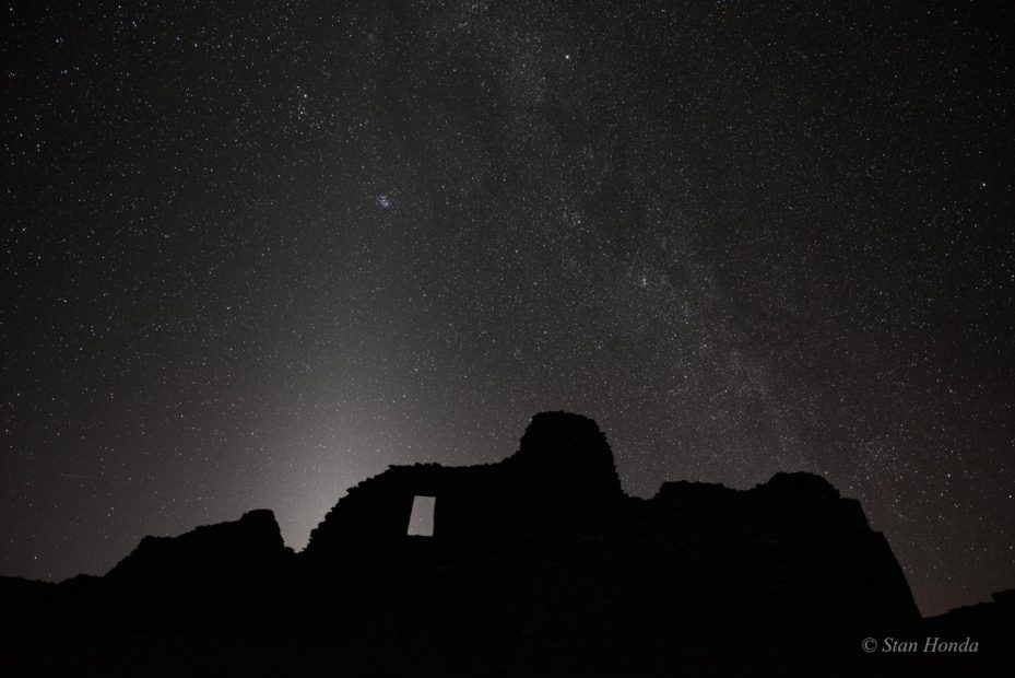 Zodiacal Light, Pueblo del Arroyo, Mar. 6, 7:34 pm
