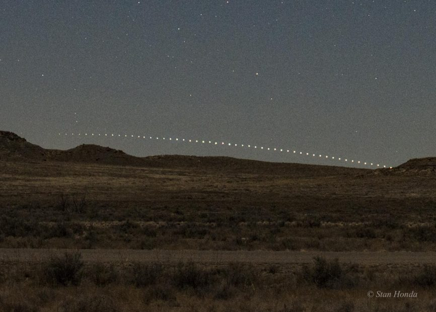 Canopus sets (detail), Fajada Butte, Mar. 17, 7:44-8:50 pm