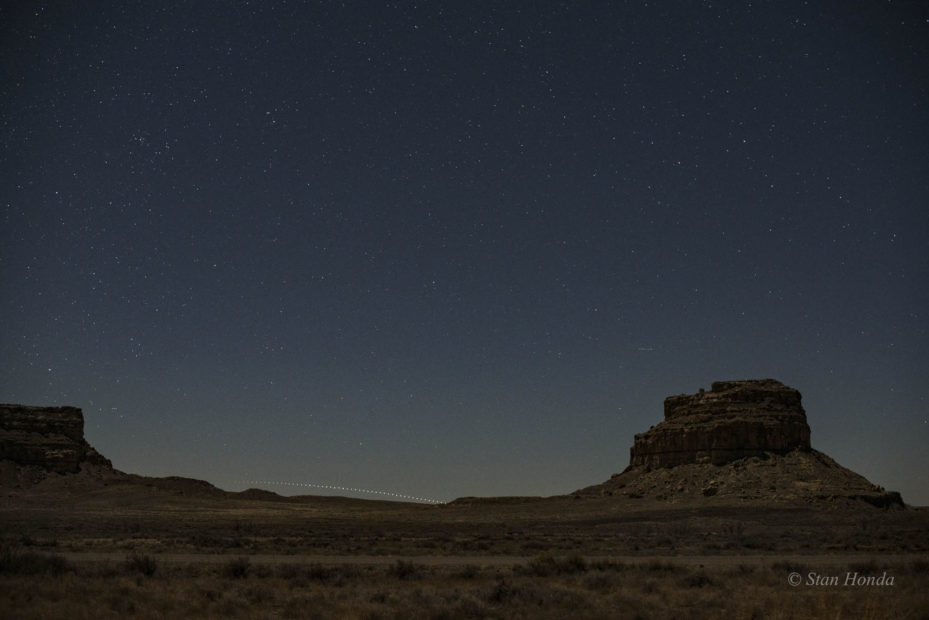 Canopus sets, Fajada Butte, Mar. 17, 7:44-8:50 pm