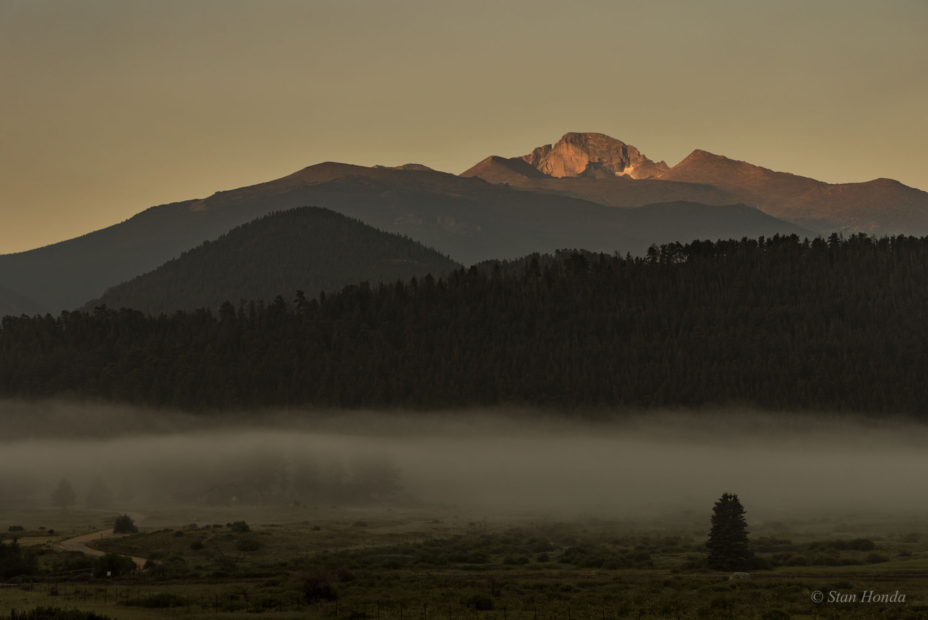 Sunrise, Longs Peak, July 29, 2016