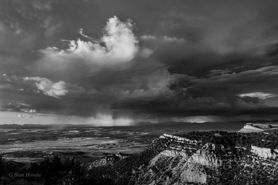 Evening storm to the north of Mesa Verde.