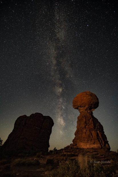 Arches N.P.- Balanced Rock by moonlight